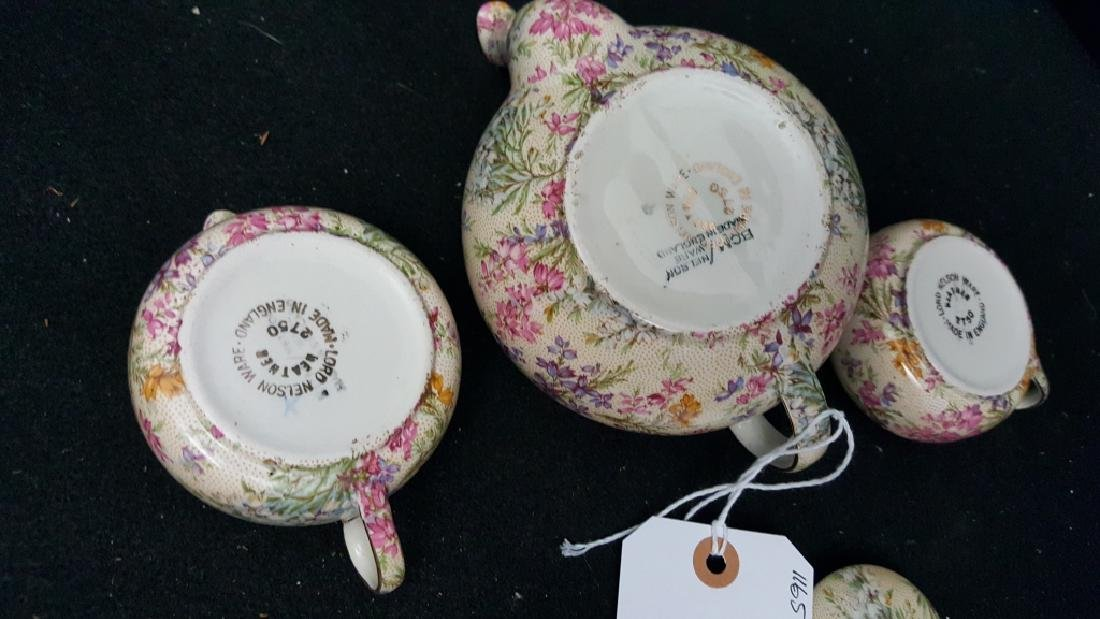 Lord Nelson Ware Rose Time Chintz Stacking Teapot - 4