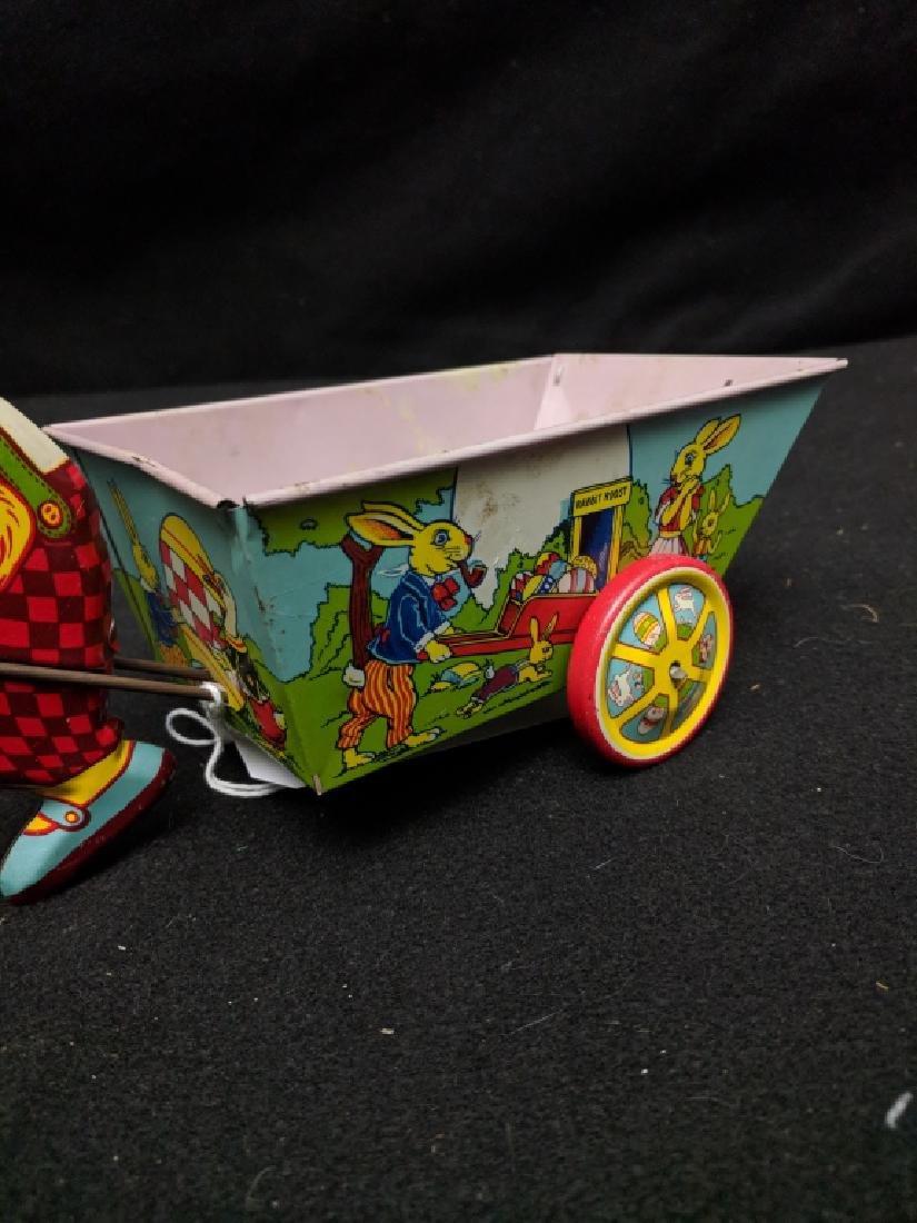 J. Chein & Co. Tin Rabbit Pulling Wagon Toy - 3