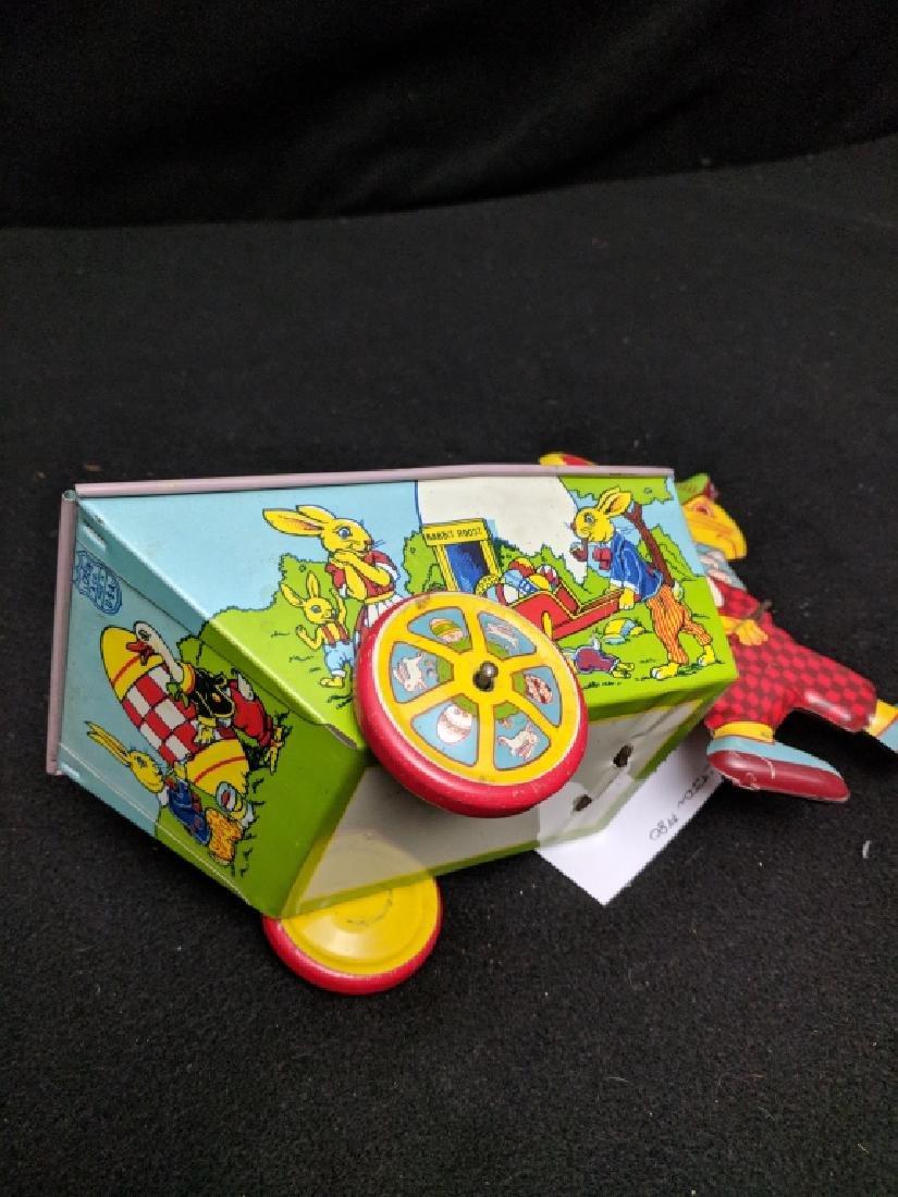 J. Chein & Co. Tin Rabbit Pulling Wagon Toy - 4