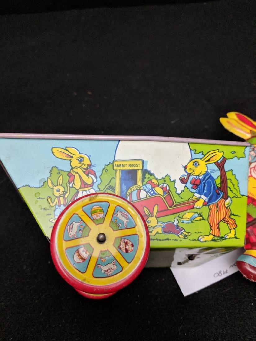 J. Chein & Co. Tin Rabbit Pulling Wagon Toy - 5