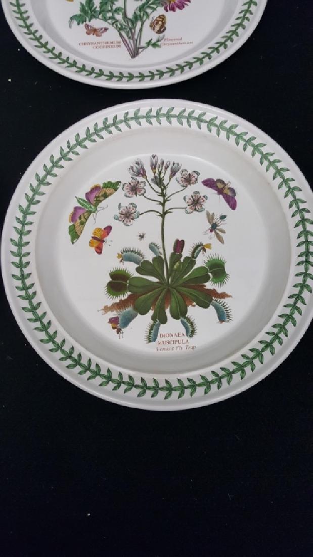Portmeirion Botanic Garden Pottery Dinner Plates - 2