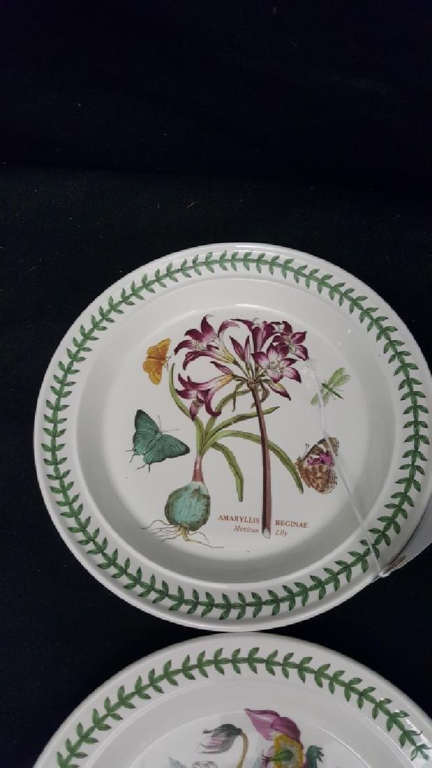 Portmeirion Botanic Garden Pottery Dinner Plates - 5
