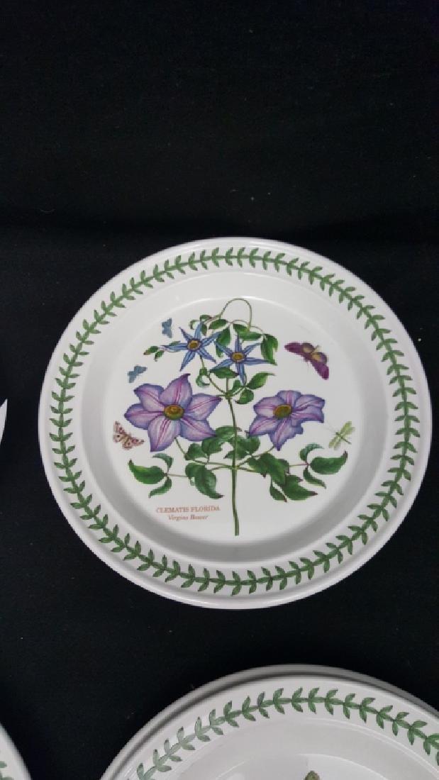 Portmeirion Botanic Garden Pottery Dinner Plates - 6