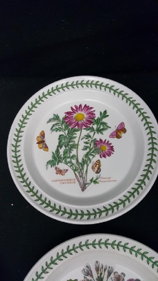 Portmeirion Botanic Garden Pottery Dinner Plates - 7