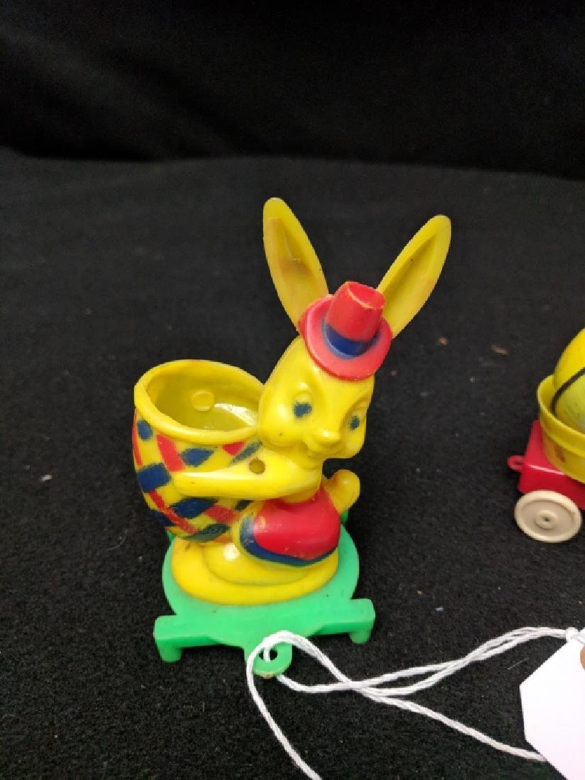 Lot of Vintage Plastic Easter Duck & Rabbit Toys - 5
