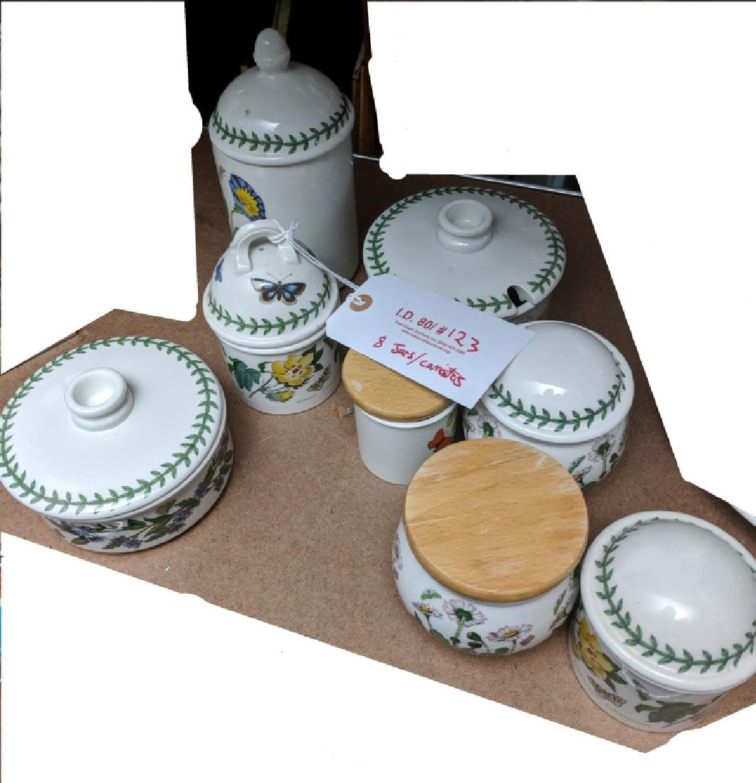 Portmeirion Botanic Garden Pottery Canisters