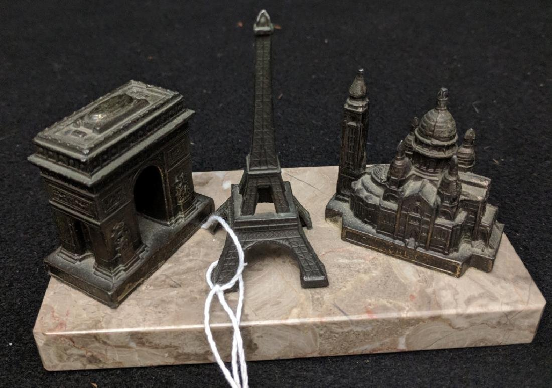 Vintage French Paperweight With Monuments