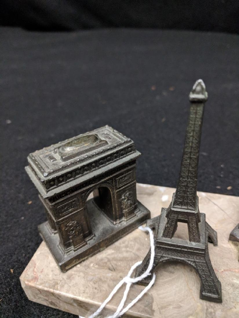 Vintage French Paperweight With Monuments - 3