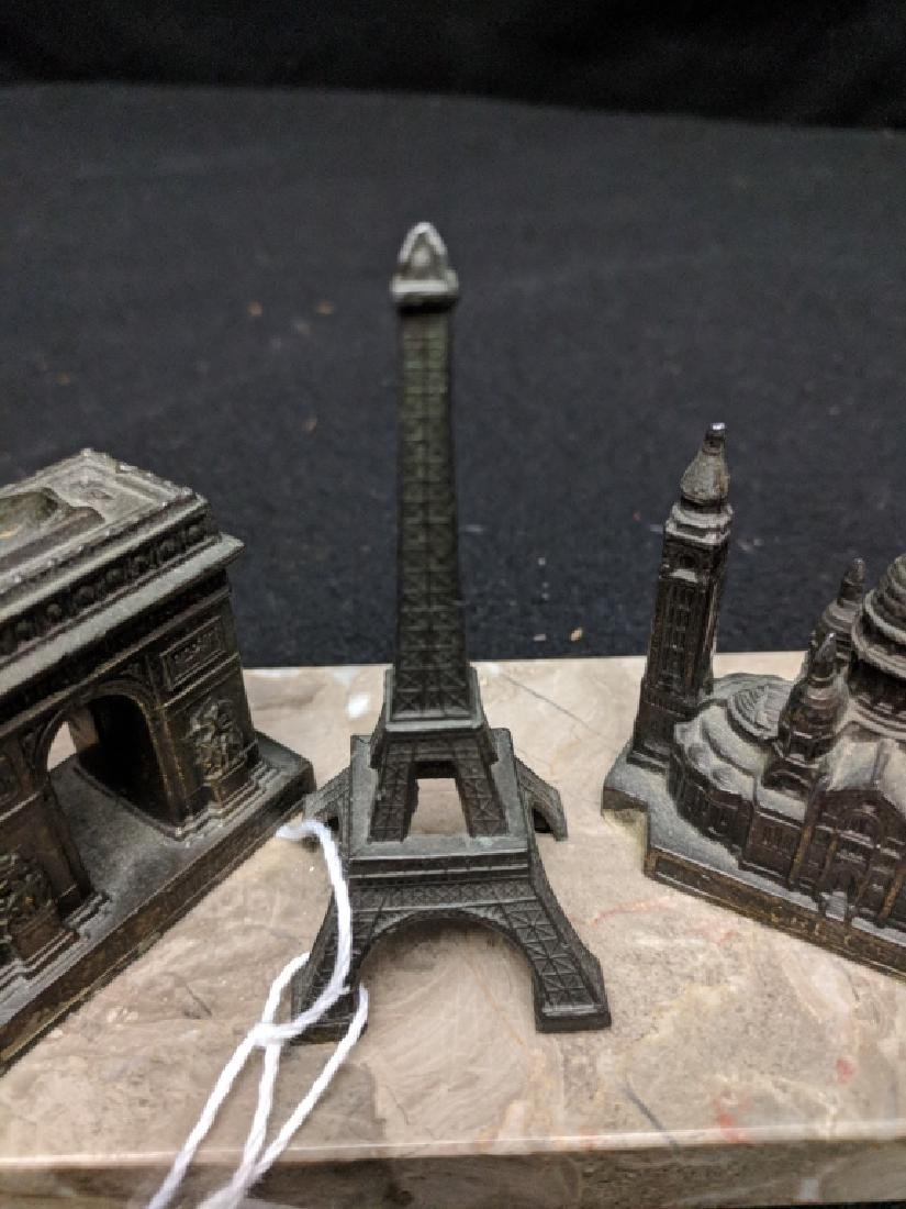 Vintage French Paperweight With Monuments - 4