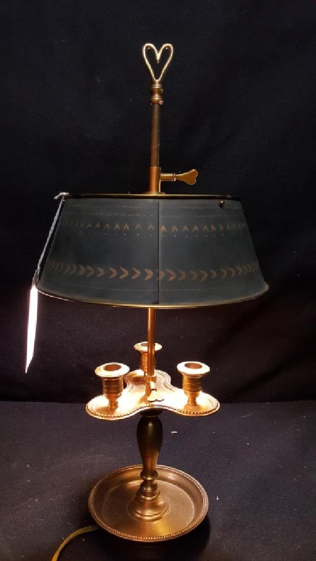 Bronze and Tole French Bouillotte Lamp