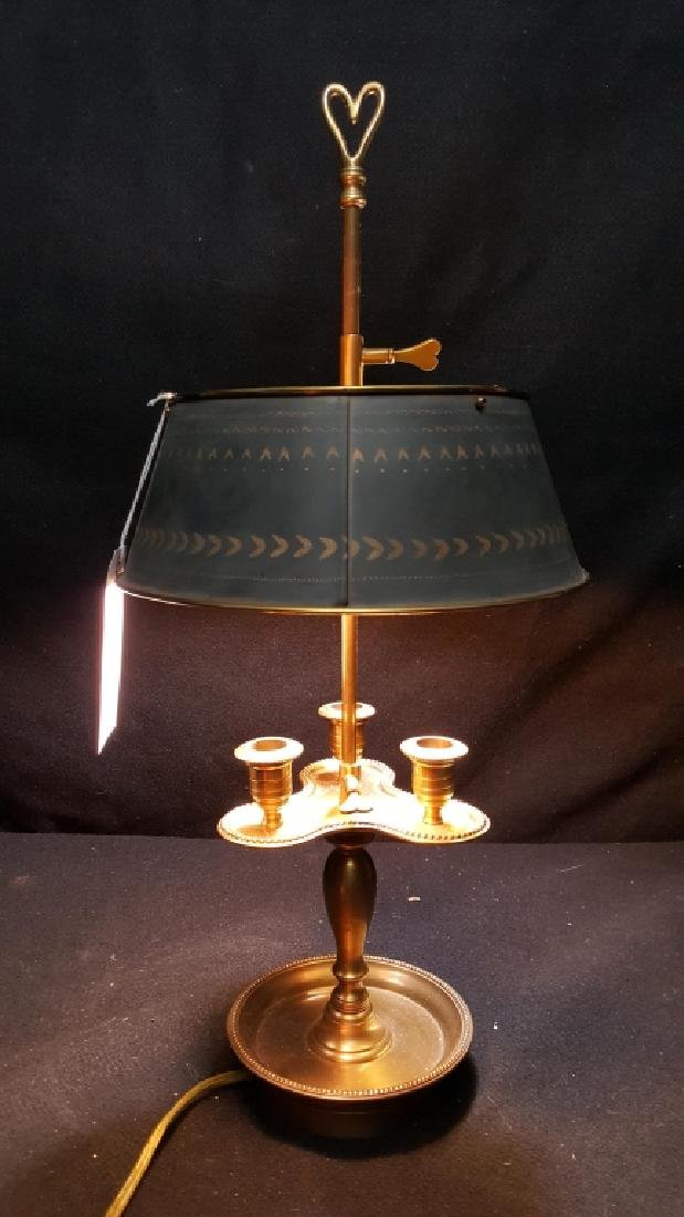 Bronze and Tole French Bouillotte Lamp - 2