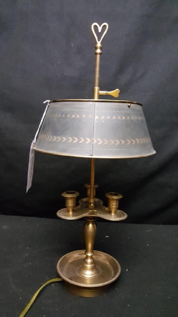 Bronze and Tole French Bouillotte Lamp - 3