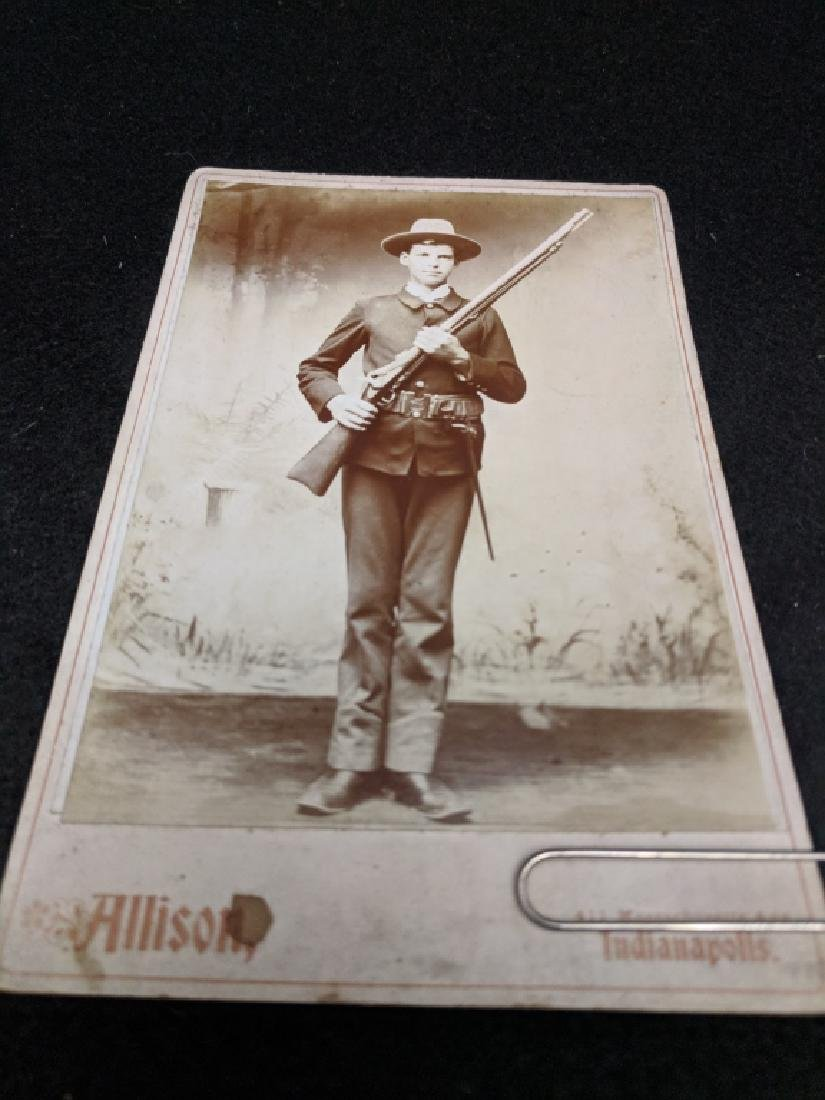 Cabinet Card Photo Soldier Spanish American War