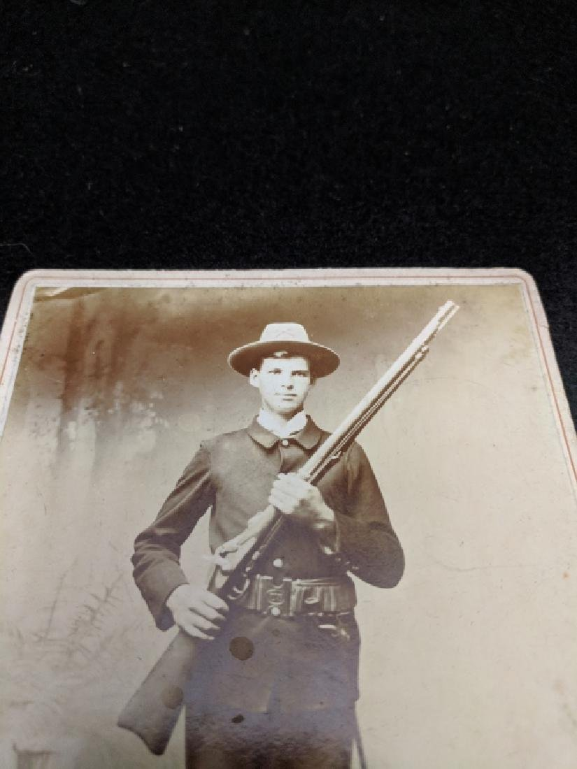 Cabinet Card Photo Soldier Spanish American War - 2