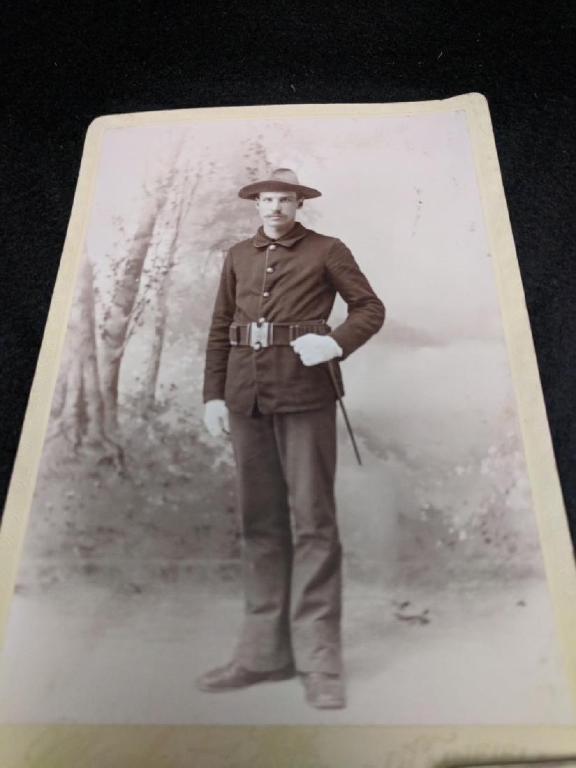 Military Cabinet Card Photo Span Am War (?) - 2