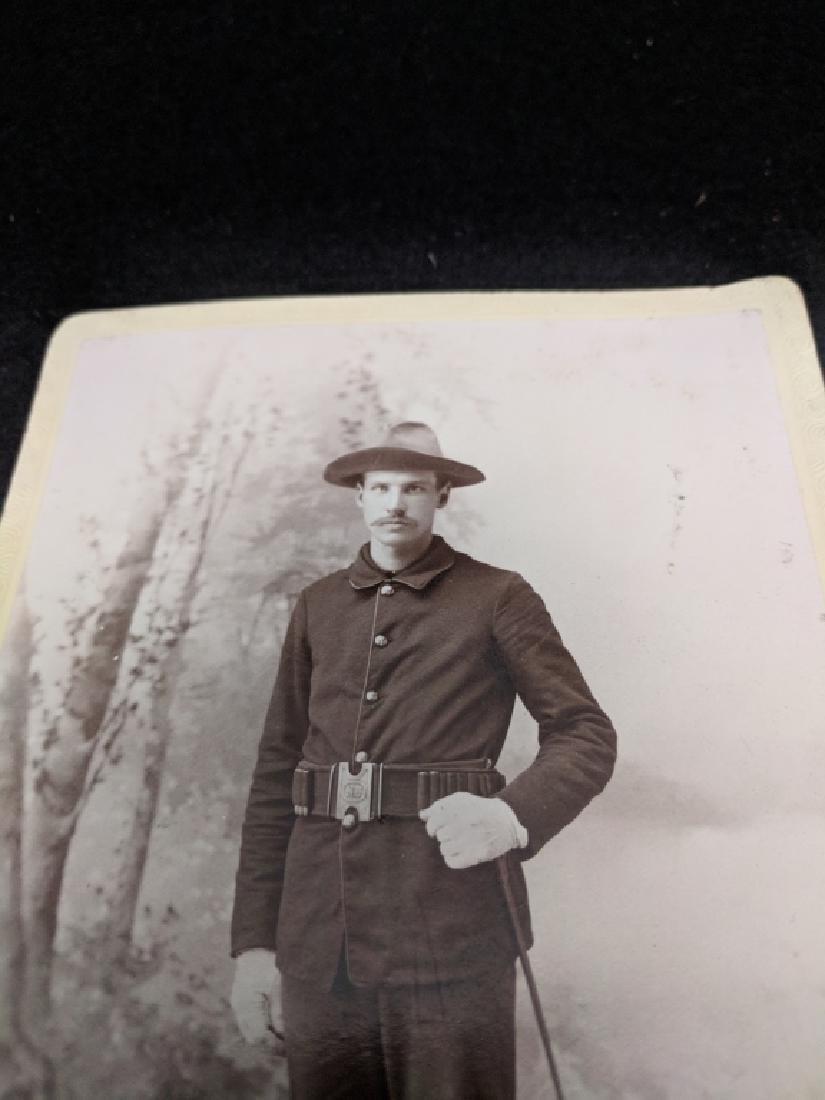 Military Cabinet Card Photo Span Am War (?) - 3