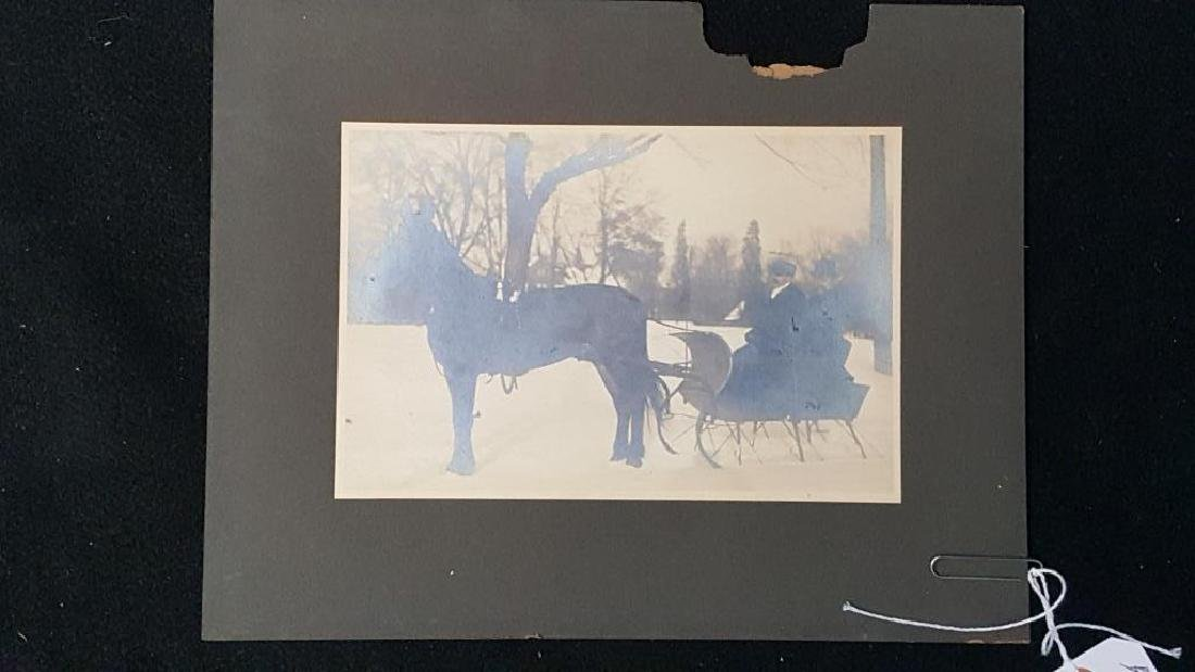 Antique Large Format Photo Horse & Sleigh Sled - 2