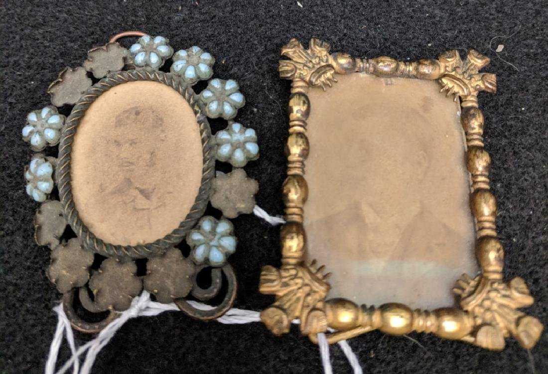 Two Small Antique Metal Frames