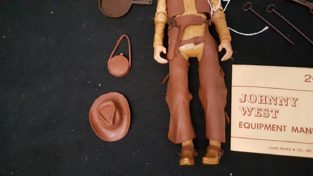 Johnny West Marx Action Cowboy Figure 2062 In Box - 4