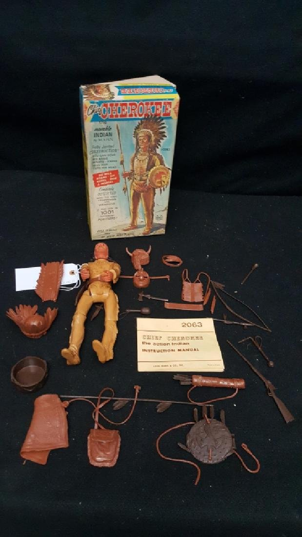 Chief Cherokee Indian By Marx #2063 With Box