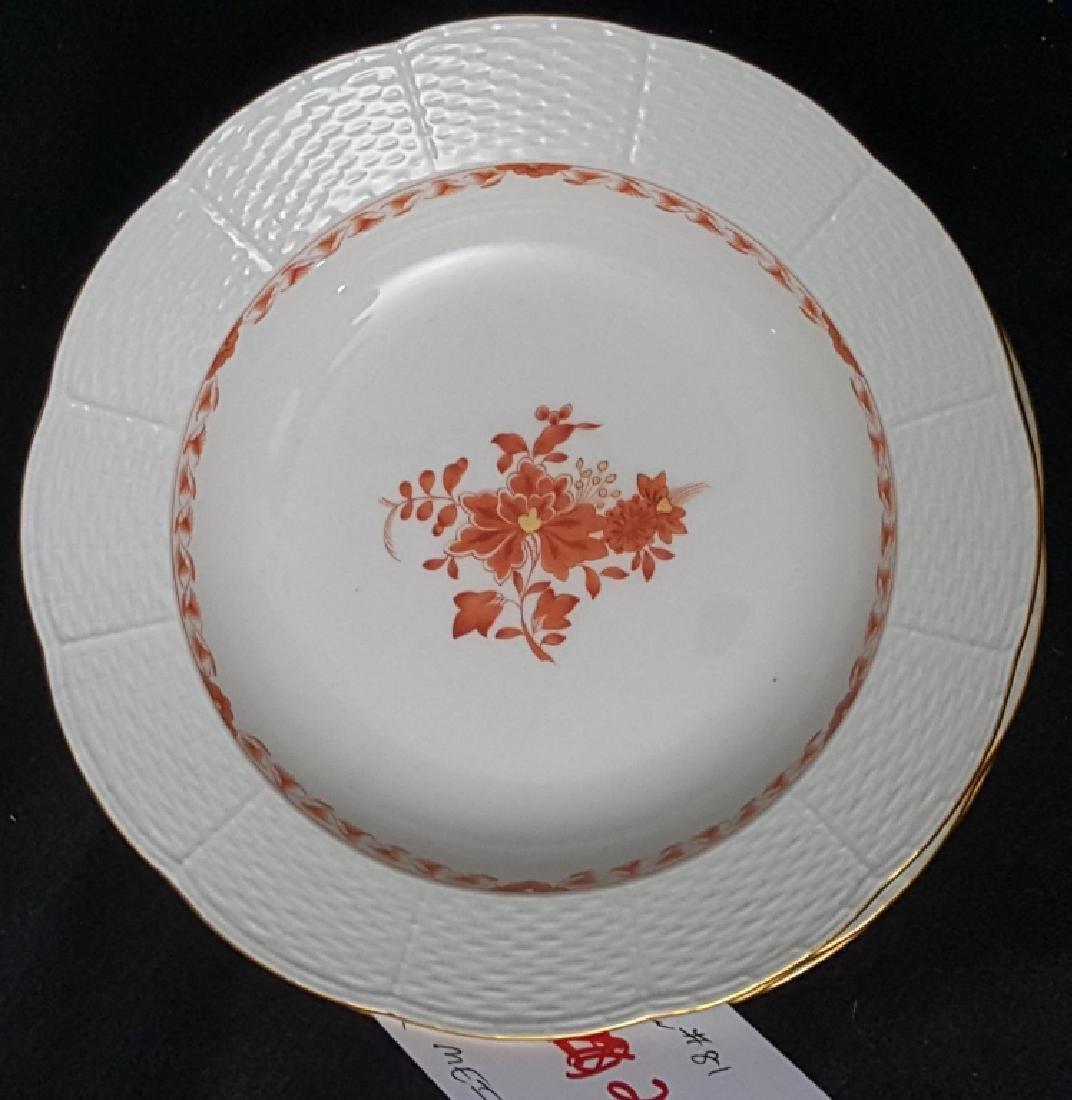 """Set of 11 Antique Meissen Soup Bowls 9"""""""