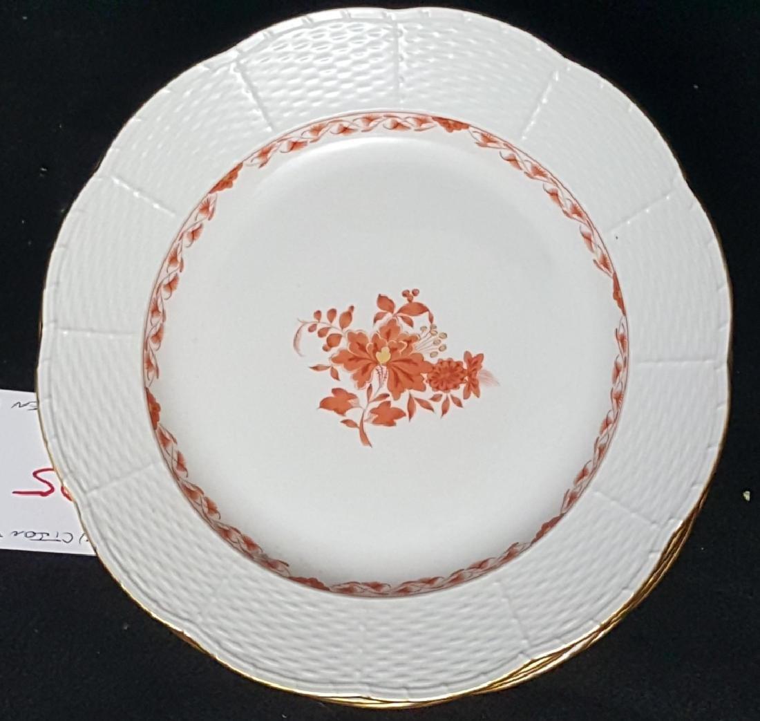 "Set of 12 Meissen Dinner Plates 10"""