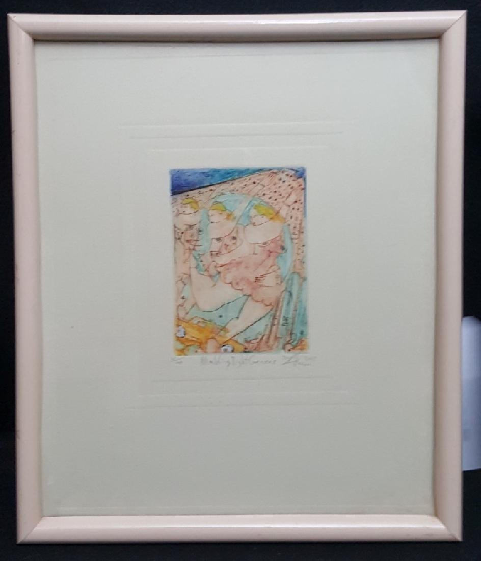 "A pencil Signed Lithograph ""Making Tight Corners"""