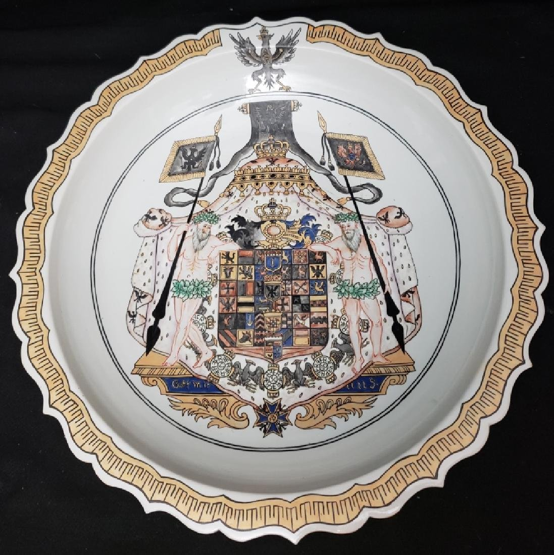 "Famille Rose ""Arms of Prussia""  Charger 24"""