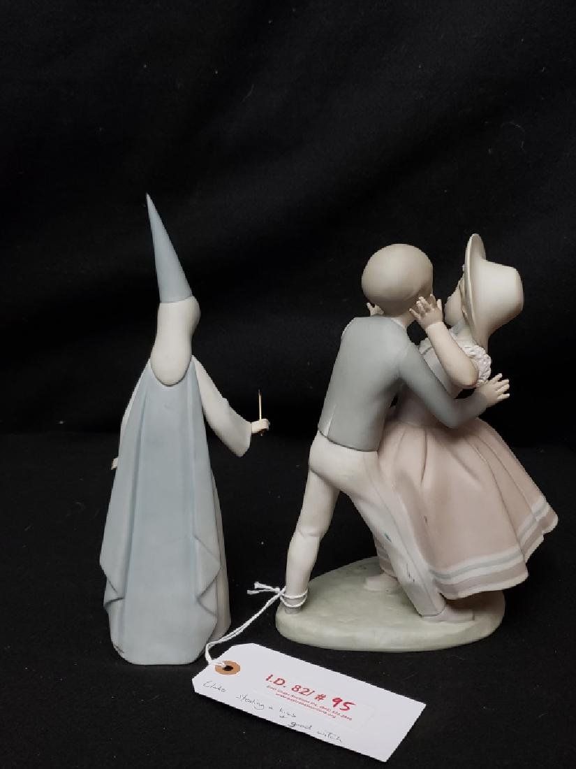 Lladro Boy Kissing Girl And Good Witch Figures - 2