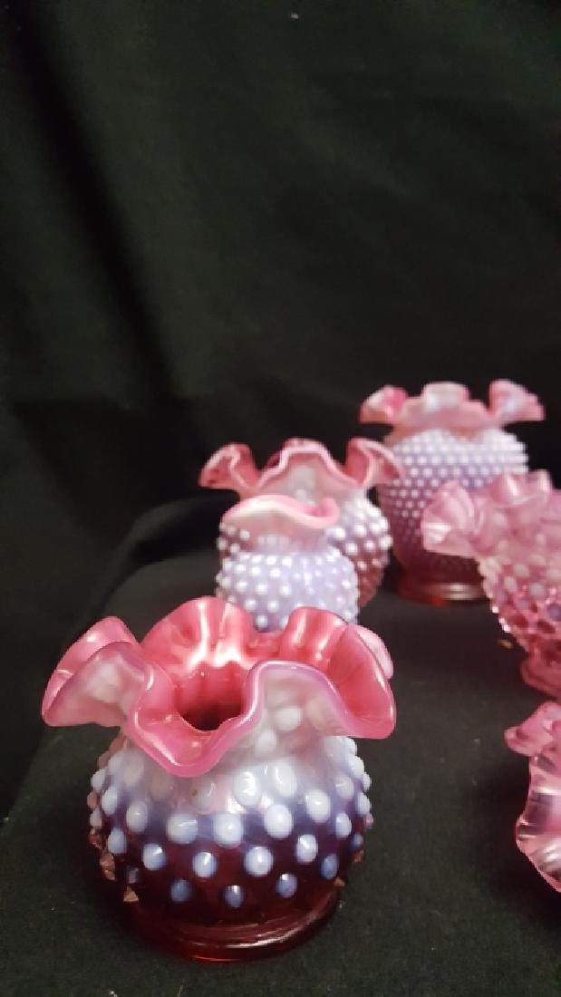 Hobnail Cranberry Glass Collection - 2