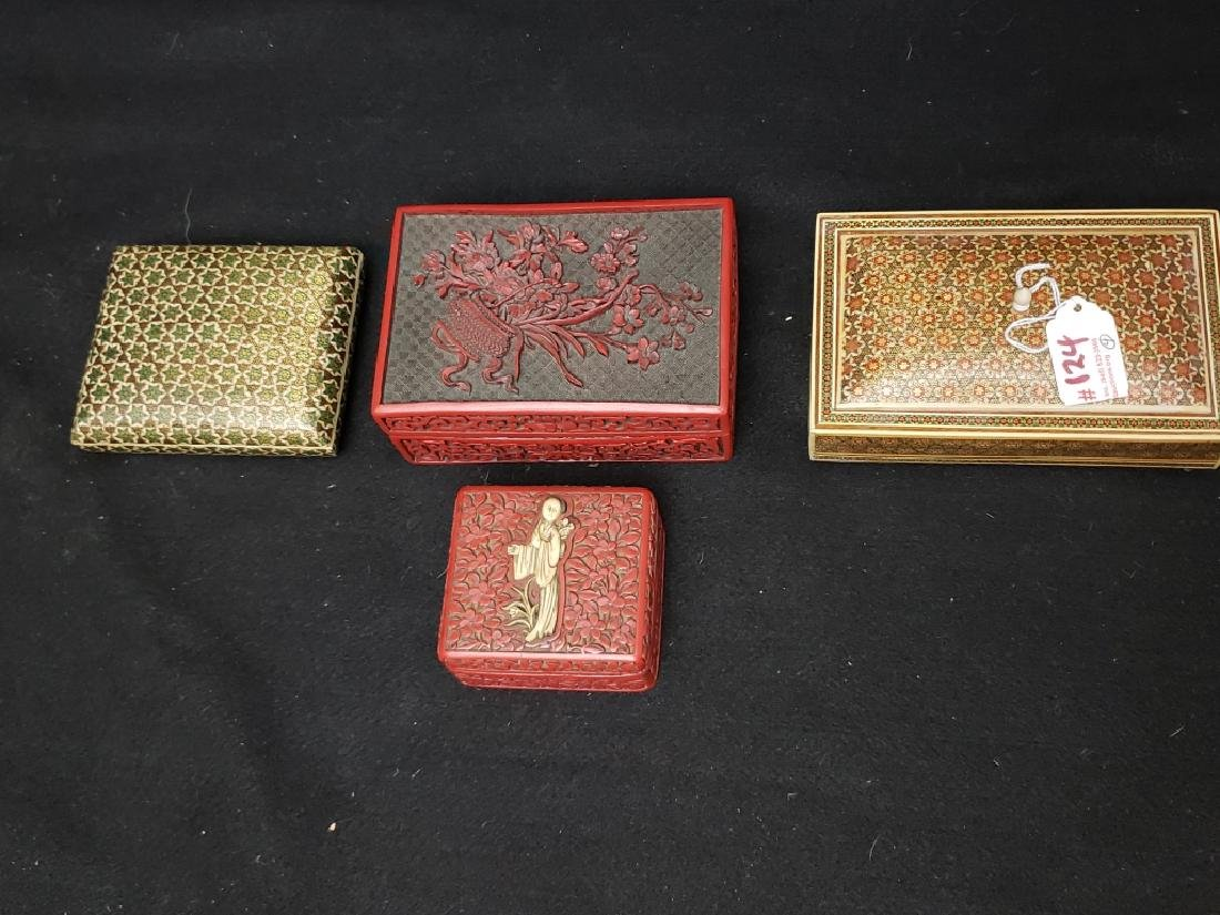 (4) Group of Asian Hand Made Boxes