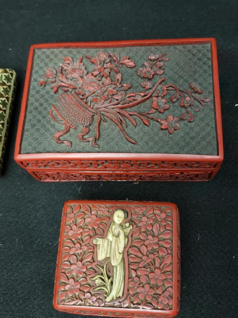 (4) Group of Asian Hand Made Boxes - 2