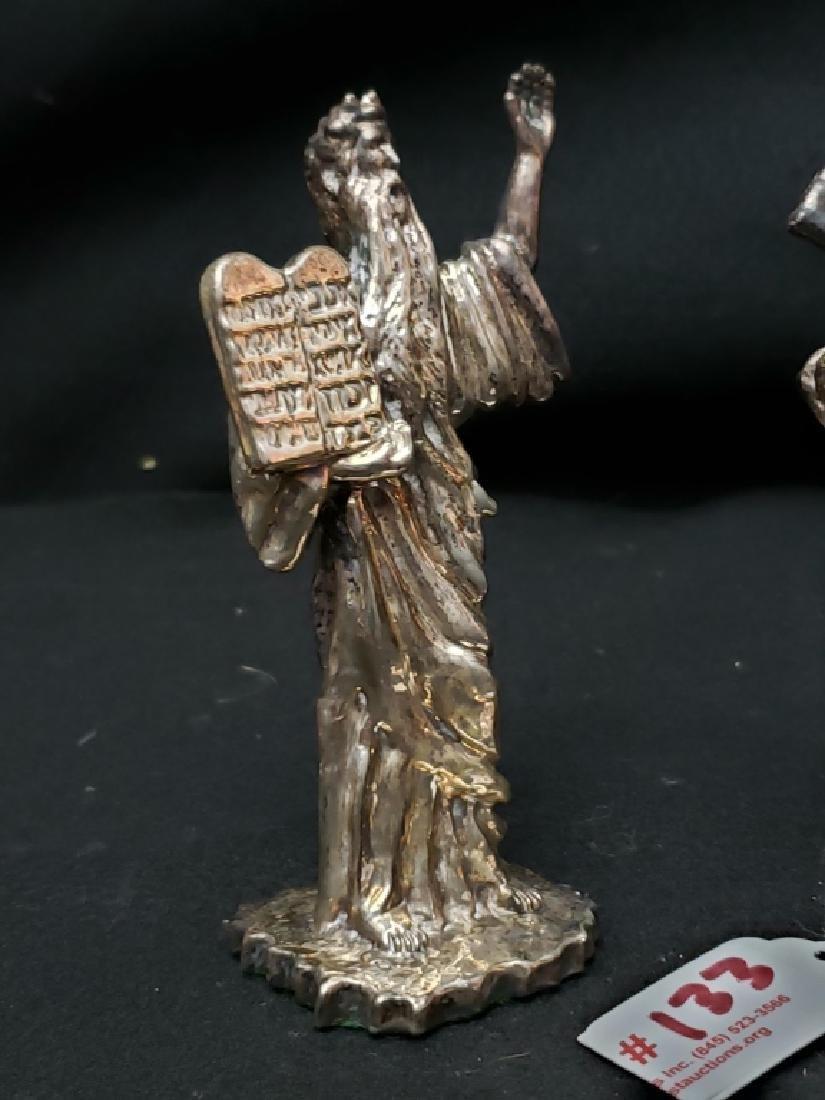 (2) Judaica Moses Silver Twafi Figurines - 2