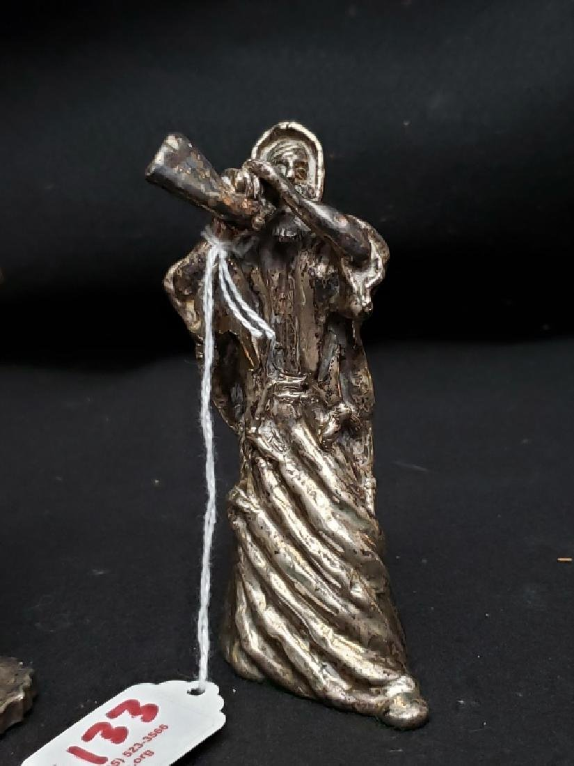 (2) Judaica Moses Silver Twafi Figurines - 3