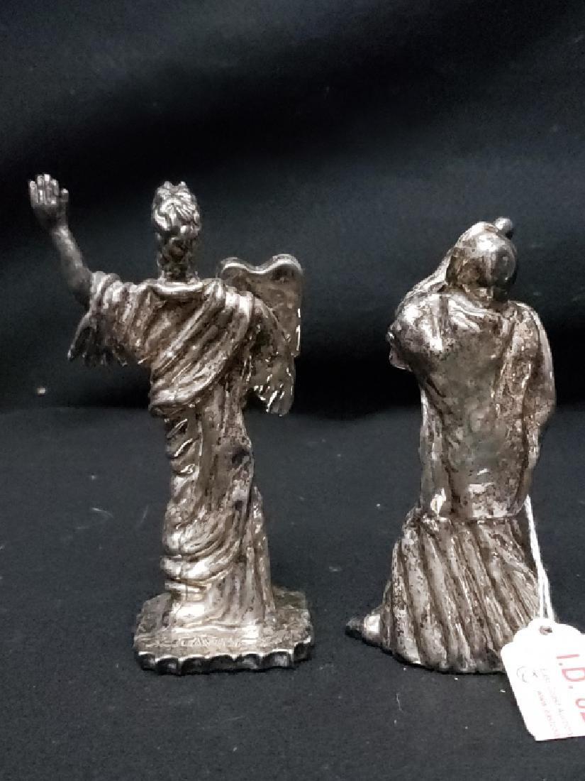 (2) Judaica Moses Silver Twafi Figurines - 4