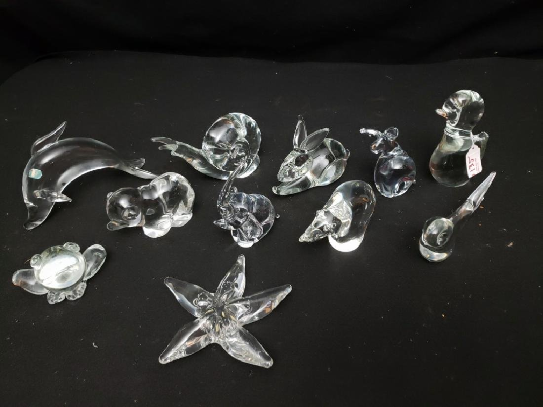(11) Group of art Glass Animals