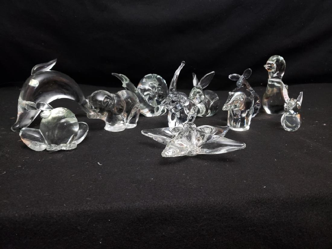 (11) Group of art Glass Animals - 2