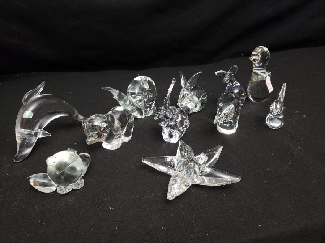 (11) Group of art Glass Animals - 3