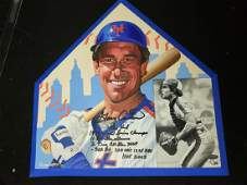 """Gary Cater """"The Kid"""" Autographed on MLB Home Plate"""