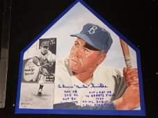"Edwin ""Duke"" Snider Autographed MLB Home Plate"