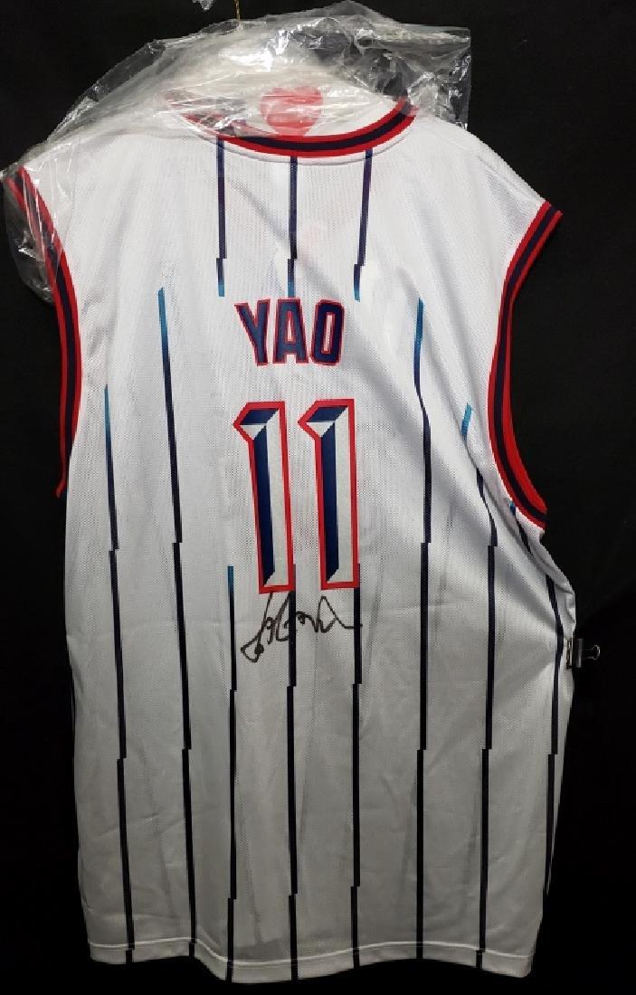 Yao Ming #11 Autographed Houston Rockets Jersey - 5