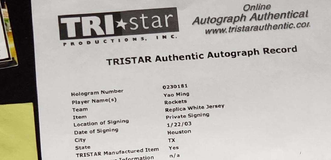 Yao Ming #11 Autographed Houston Rockets Jersey - 9