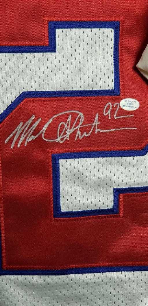 a2cf03fa580 Michael Strahan  92 NY Giants Autographed Jersey COA