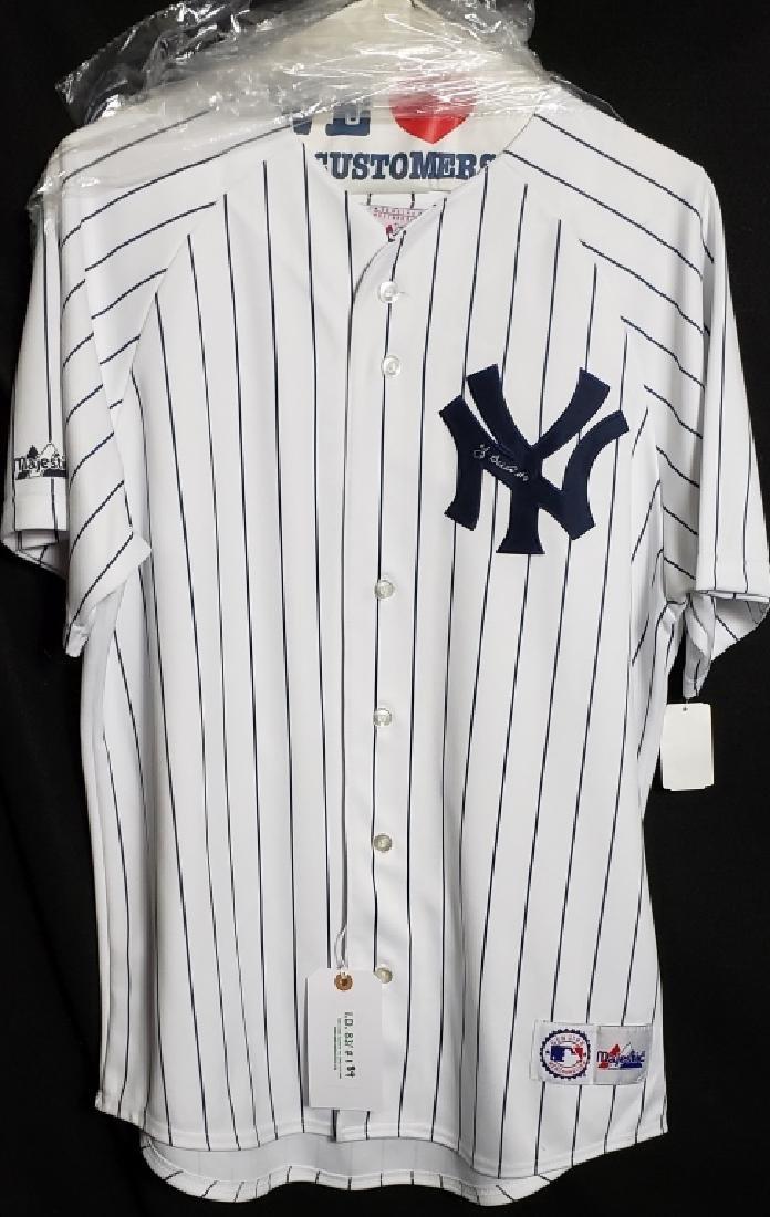 Yogi Berra NY Yankees Autographed Pinstripe Jersey - 2