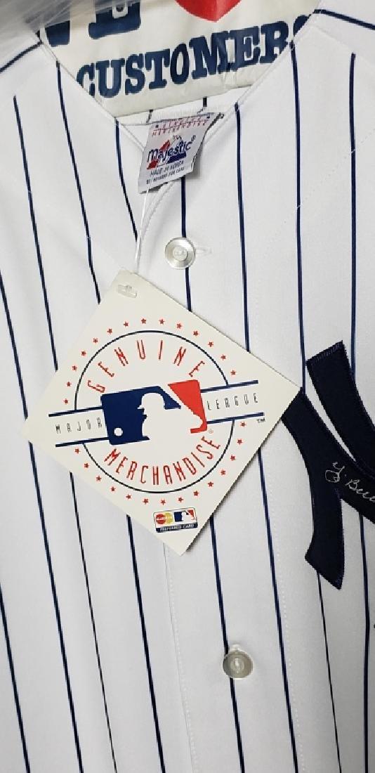 Yogi Berra NY Yankees Autographed Pinstripe Jersey - 5