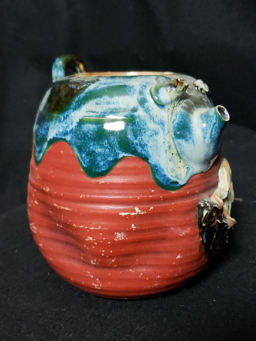 Sumida Gawa Pottery Lot, 3 Pcs - 4