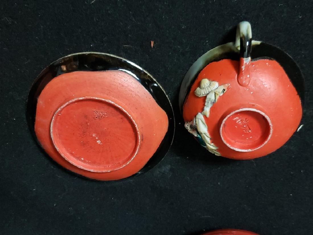 Sumida Gawa Pottery Lot, 3 Pcs - 5
