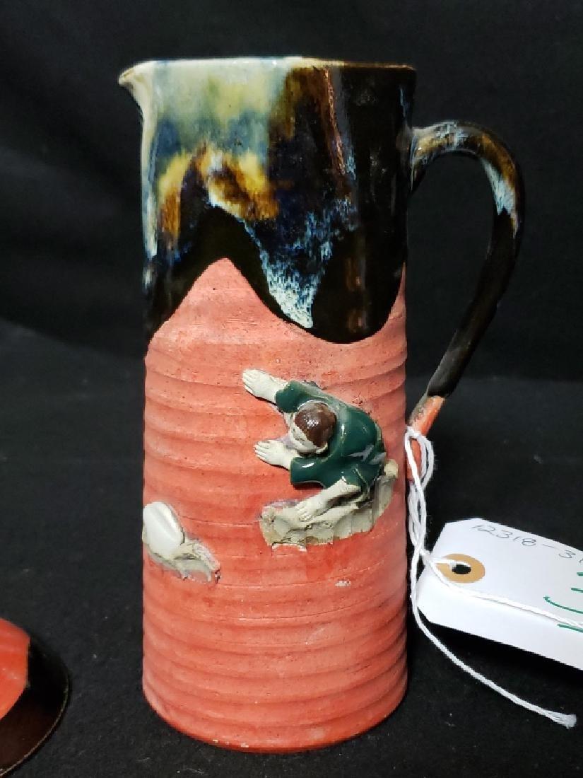 Sumida Gawa Pottery Lot, 3 Pcs - 6
