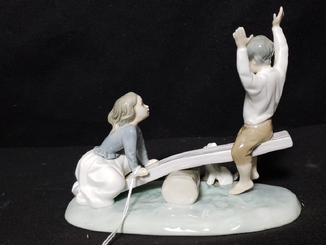 Lladro Porcelain Figurine Children On a See Saw