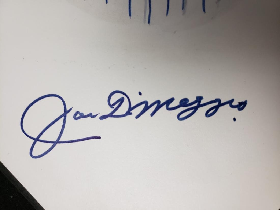 Joe Dimaggio Autographed Hand Painted Home Plate - 4